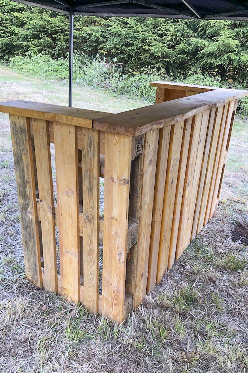 Holz Sonderanfertigung Holzbar Palettenbar