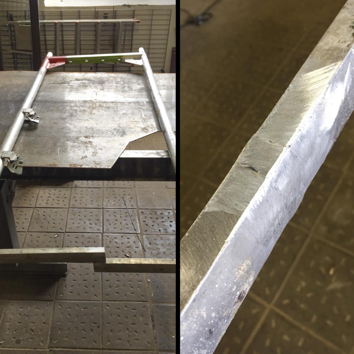 Metall Reparaturen Aluminium Gerüstreparatur