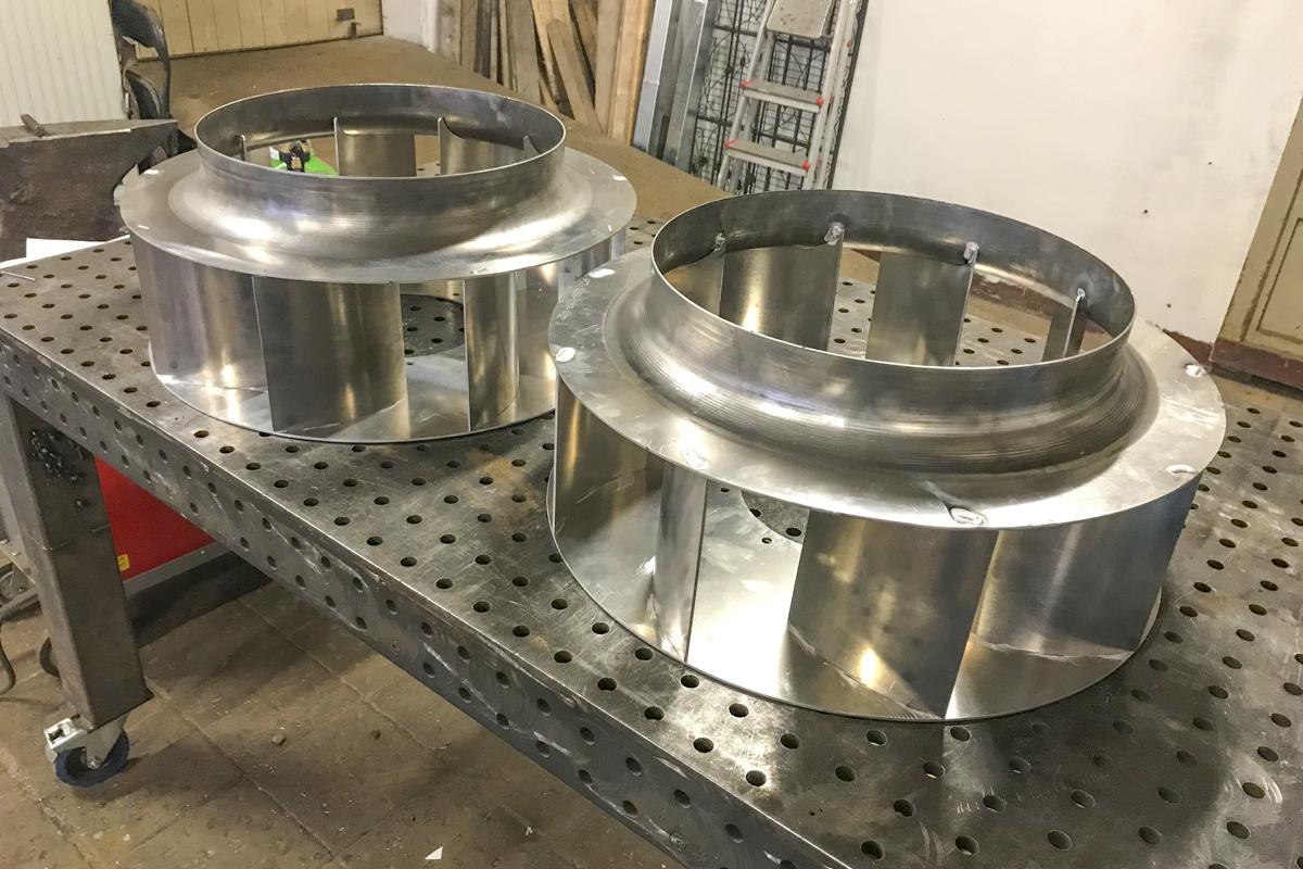 Metall Sonderanfertigung Aluminium Lüfterräder