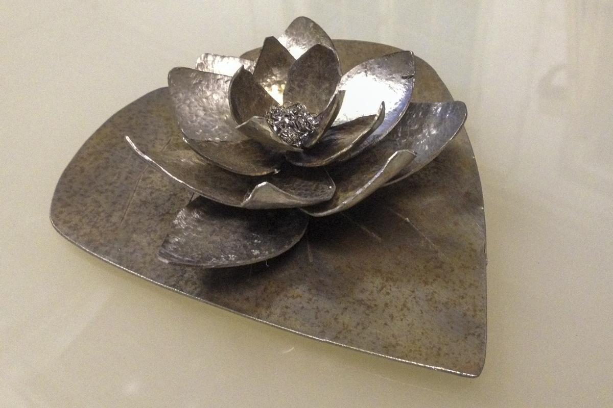 Metall Sonderanfertigung schmiedeeiserne Seerose Hochzeitsgeschenk