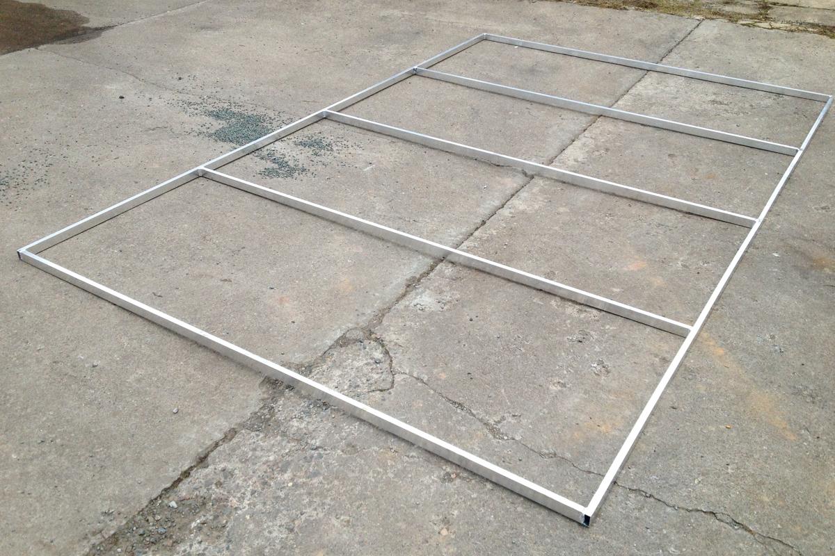 Stahlbauteile Aluminiumrahmen Werbeschildträger
